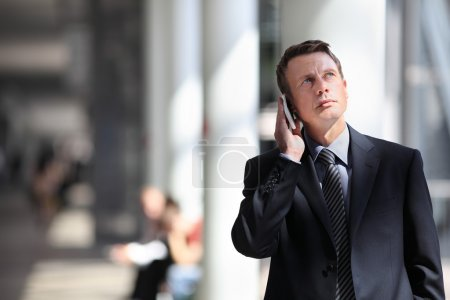 Photo for Businessman talking on the phone - Royalty Free Image