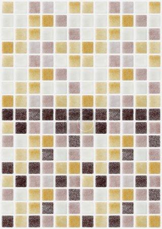 Photo pour Carreaux de mosaïque en marbre de couleur carré - image libre de droit