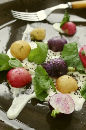 Photo for Healthy radish salad meal - Royalty Free Image
