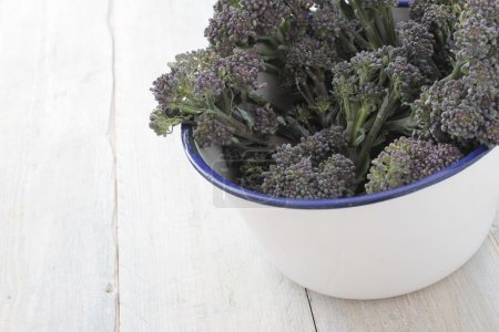 purple raw broccoli