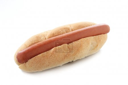 Photo pour Hot-Dog en chignon sur fond blanc - image libre de droit