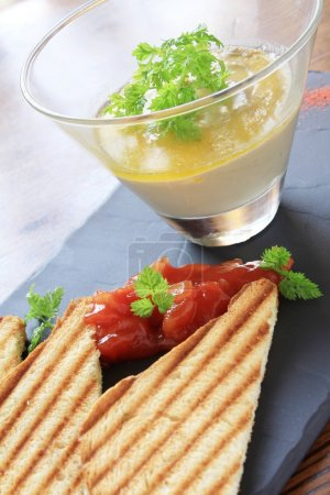 smooth pate with toast