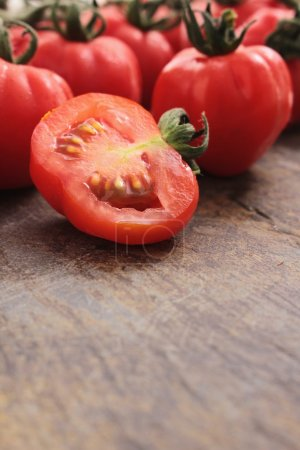 Photo for Fresh ripe red tomatoes - Royalty Free Image