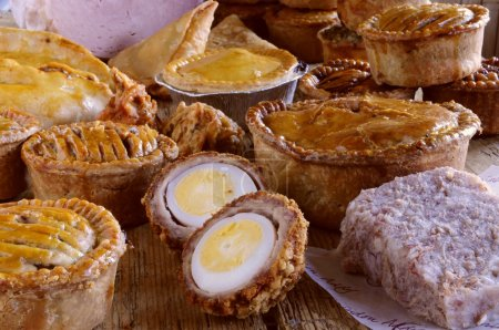 pies ham and pastries
