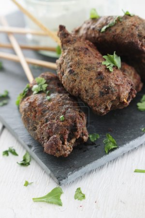 mini canape shish kofta kebabs