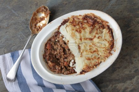 cottage pie in dish