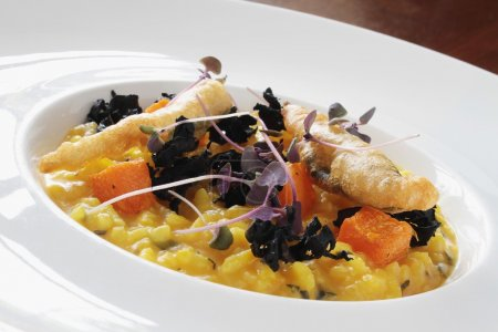 vegetable risotto meal