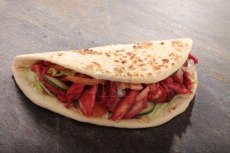 tikka shish donner wrap sandwich