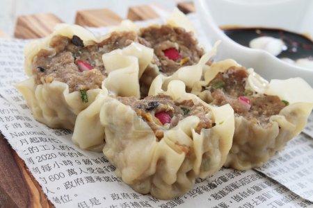 chinese meat dumplings