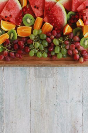 Photo for Fresh healthy mixed fruit salad selection - Royalty Free Image