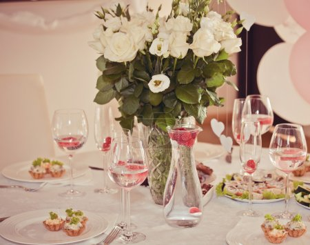 Elegant banquet table