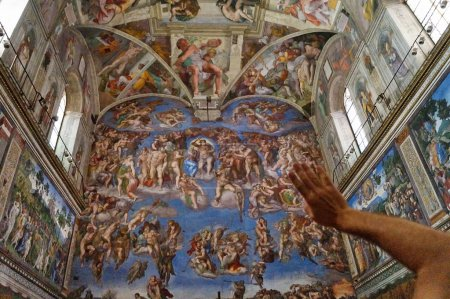 Frescoes of Michelangelo in the Sistine Chapel, Rome, Italy
