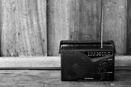 Photo for Black and white old transistor radio - Royalty Free Image