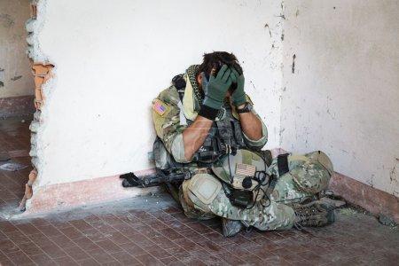 Shocked American Soldier