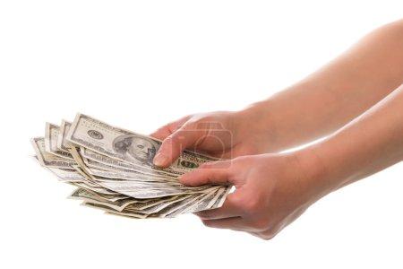 Money in human hands