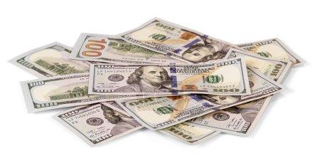 dollar bills isolated