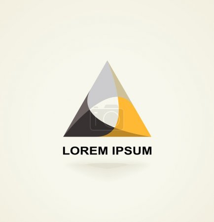 Illustration for Conceptual creative technology vector abstract triangle icon template logo - Royalty Free Image
