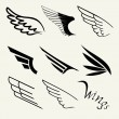 Wings set on white background, vector...
