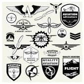 Monochrome Mega Set of retro emblems
