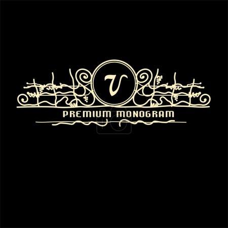 Grapevine vintage monogram