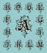 Vintage set capital letters