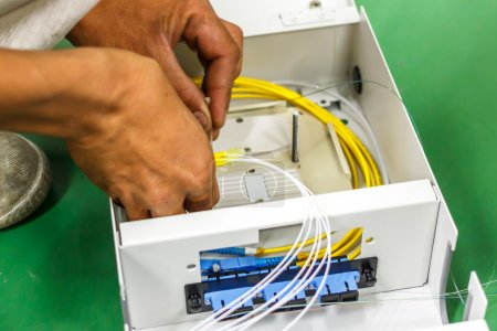 fiber optic cable install