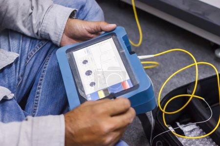 Photo pour Test de fibre optique - image libre de droit