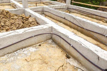 termite protection system on home foundation