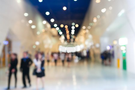 Photo for Blurred people at exhibition fair - Royalty Free Image
