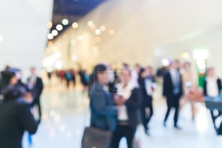 Photo for Blurred people on exhibition fair - Royalty Free Image