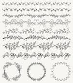 Hand Sketched Seamless Borders Frames Dividers Swirls