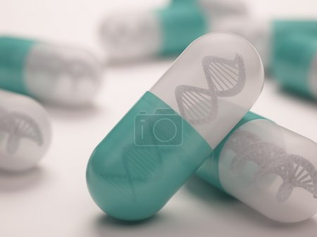 Pill with a dna inside.