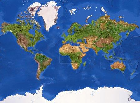 Photo pour Haute résolution de la texture peinte Planète Terre . - image libre de droit