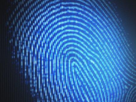 Fingerprint on a led screen