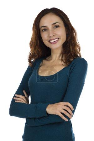 Confident attractive woman
