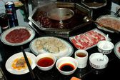 Chengdu, China: Chafing Dish Food at Restaurant