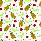 Seamless pattern with insects for textile