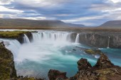 Amazing Godafoss waterfall in Iceland