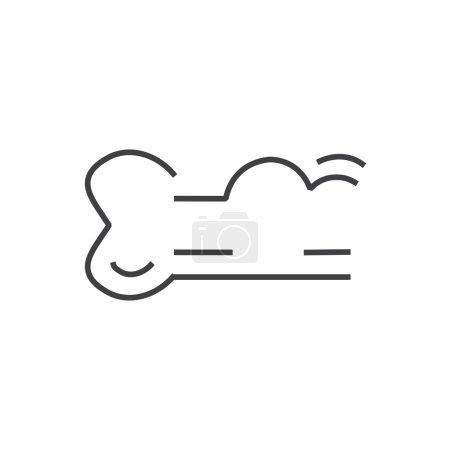 Line icon bone cancer icon