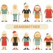 Vector set of characters in a flat style. Cartoon ...