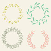 Colored Vector Laurel Wreaths