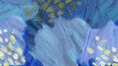 Abstraktní malba olej closeup
