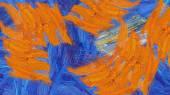 Detail barevné abstract olejomalba