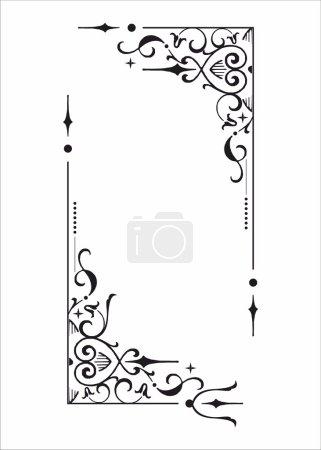Decorative floral corner