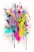 """Постер, картина, фотообои """"абстрактный цветочный фон"""""""