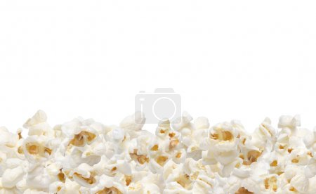 Popcorn collection isolated on white. Clipping path