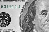 Close up dollar bill.