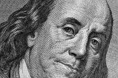 Benjamin Franklin's portrait on one hundred dollar