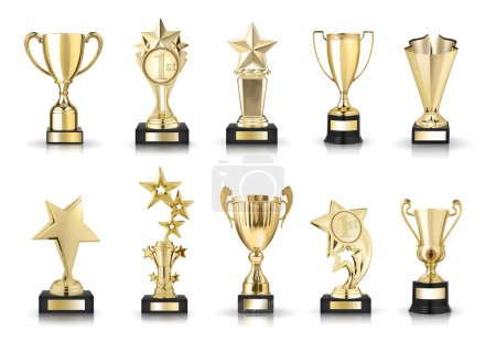 Stars and trophy cups