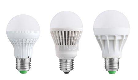 LED bulbs isolated on white background